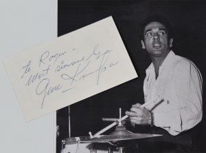 gene krupa autograph