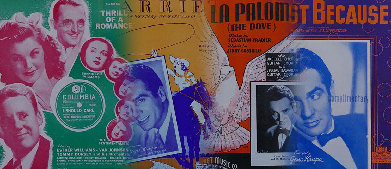 gene krupa sheet music banner